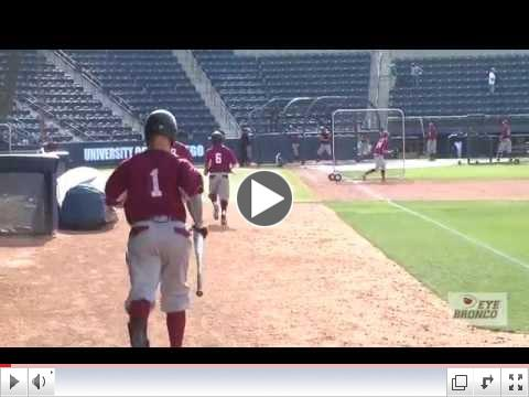 EYEBRONCO: Baseball Batting Practice April 18, 2014 at USD