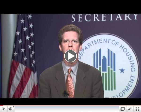 Message to HUD's Emergency Solutions Grant Recipients on the Importance of Rapid Re-Housing