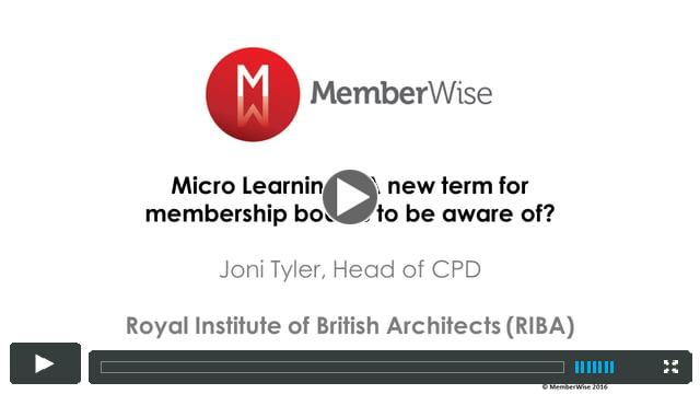 Introducing 'Micro Learning' - A new concept associations should be aware of.