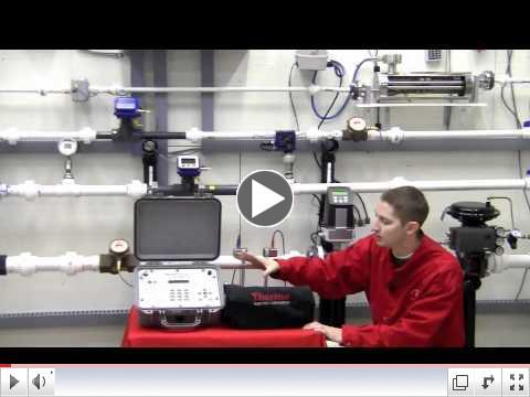 View video demonstrtation of Transit Time flowmeter