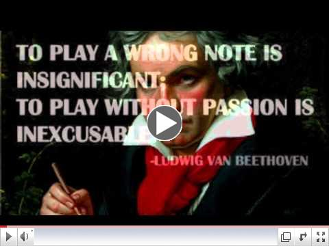 Happy Birthday, Maestro Ludwig van Beethoven. Hope you like our inspirational version of your