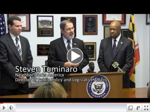 Rep. Cummings presents grants to housing agencies
