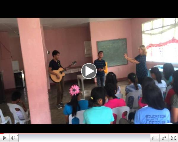 Aldrich and James perform Dance with my Father for abused teens.