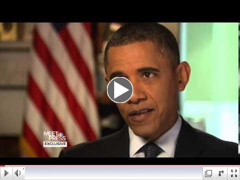 Pres. Obama on Meet the Press: Gun Control after Connecticut (Dec.30 2012)