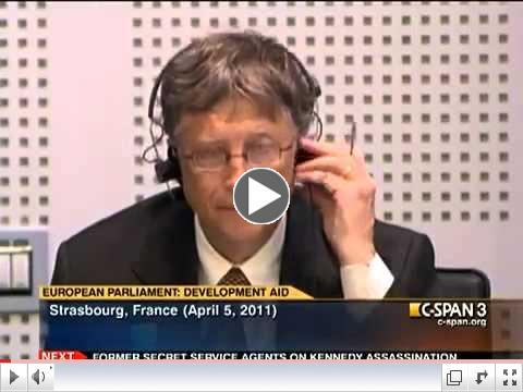 Bill Gates' Testimony Before European Parliament  Health, Education, Development Aid 2011watchdocume