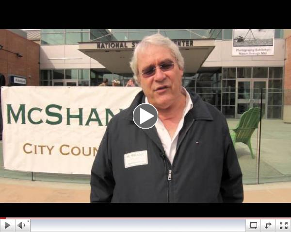 Dennis Donohue endorses Steve McShane for City Council