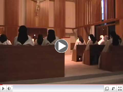 Morning prayer at Lisieux Carmel on the feast of St. Th�r�se