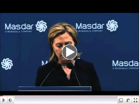 Hillary Clinton at Masdar Institute