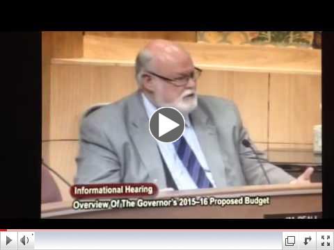 Overview Gov's Budget 2015-2016: DDS Funding Senator Beall