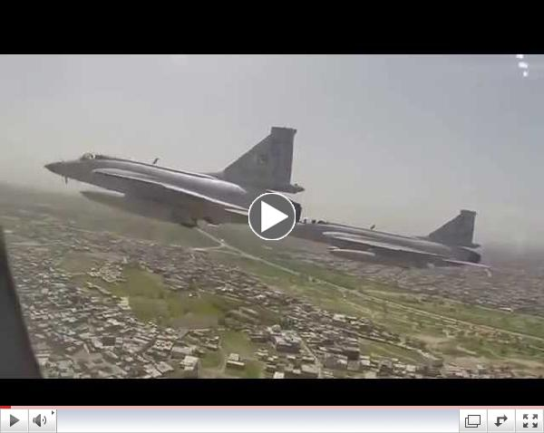 Exclusive Video Of JF-17s Escorting Chinese President's Plane,