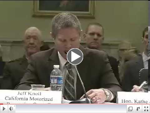 KOH Co-Founder Jeff Knoll speaks to Committee about HR1676 - Save Johnson Valley