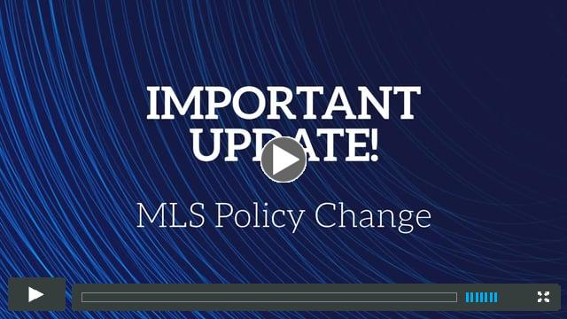 IMPORTANT UPDATE: Policy Change