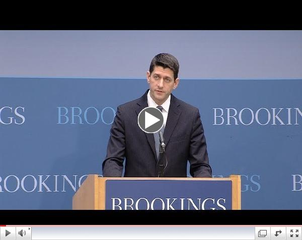 Social Mobility Summit: Keynote Remarks by Representative Paul Ryan