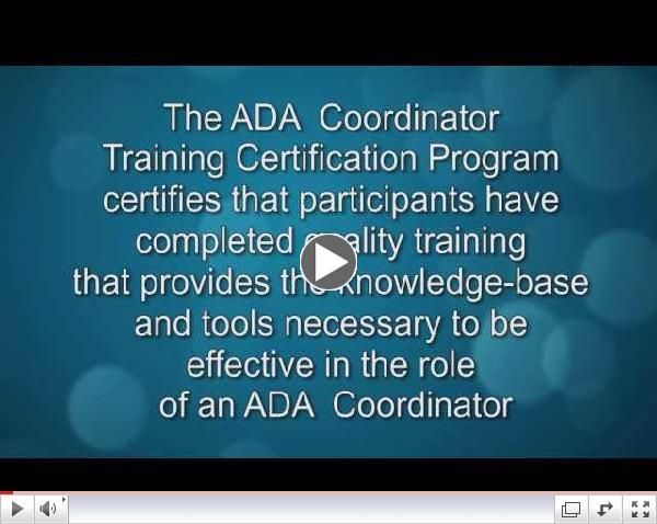 Learn about ADA Coordinator Certification