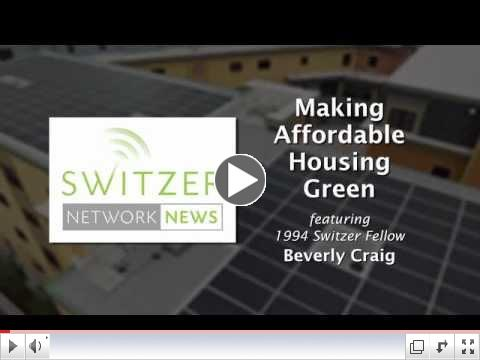 Making Affordable Housing Green with Switzer Fellow Beverly Craig