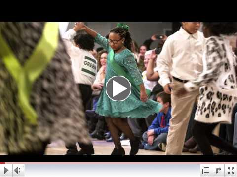 Fifth graders dancing at CORTM