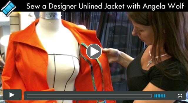 Promo - Sewing an Unlined Jacket with Angela Wolf