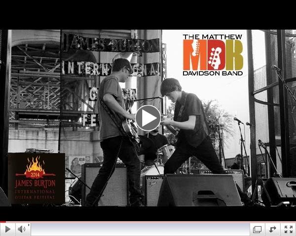 The Matthew Davidson Band at the 2014 James Burton International Guitar Festival