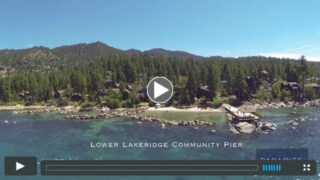 A bird's eyeview of the shoreline of Lake Tahoe Nevada. A view of lakefront homes from Glenbrook through Elk Point