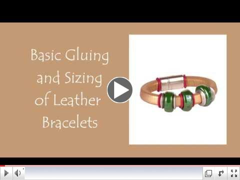 Basic Gluing and Sizing of Leather Bracelets
