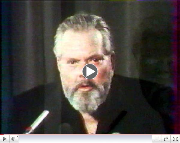 Orson Welles gives a talk at a Paris film school (1982) - Part 1