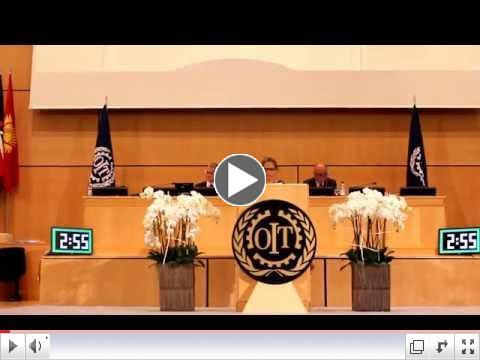 Zehra Khan Speaks on Homeworker Issues During the Plenary Session