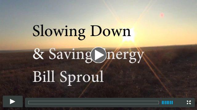 Slowing Down and Saving Energy