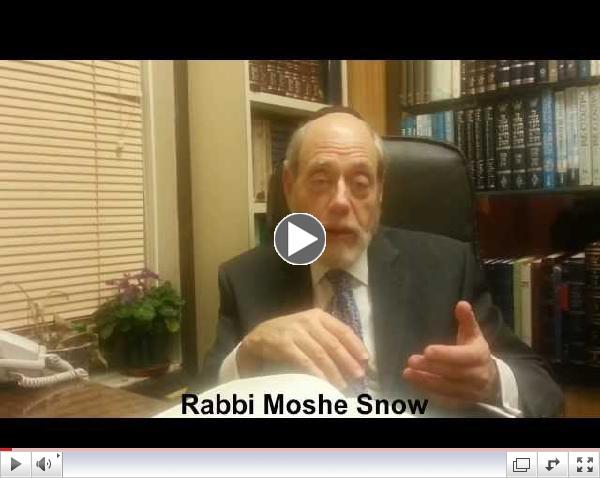 Rabbi Moshe Snow Ki Sisa