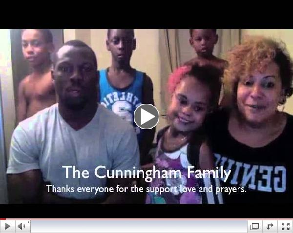 Cunningham Family says Thank You