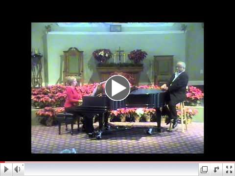 St. Francis-Springboro offers a YouTube Merry Christmas with The Rev. Edward Payne (Baritone) and Jenny Catalan (Piano)