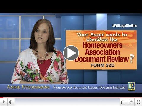 Buyer choosing not to review HOA documents? Part 7