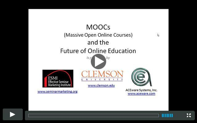 MOOCs and the Future of Online Education