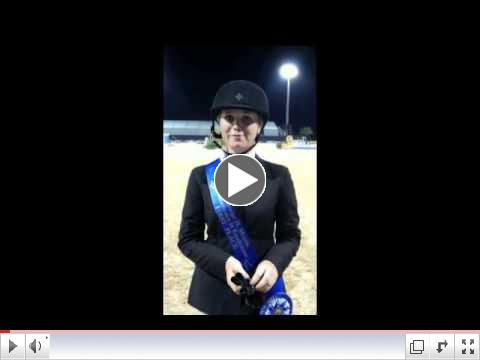 Elizabeth Benson talks about her win in the George Morris Excellence in Equitation presented by Artisan Farms