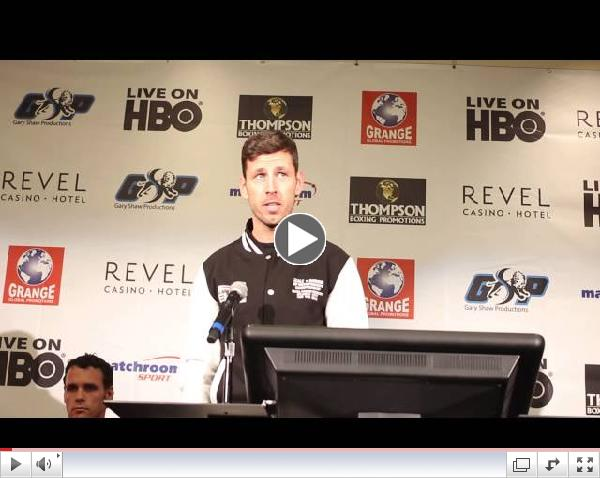 Darren Barker talks about his upcoming fight with Daniel Geale at final press conference