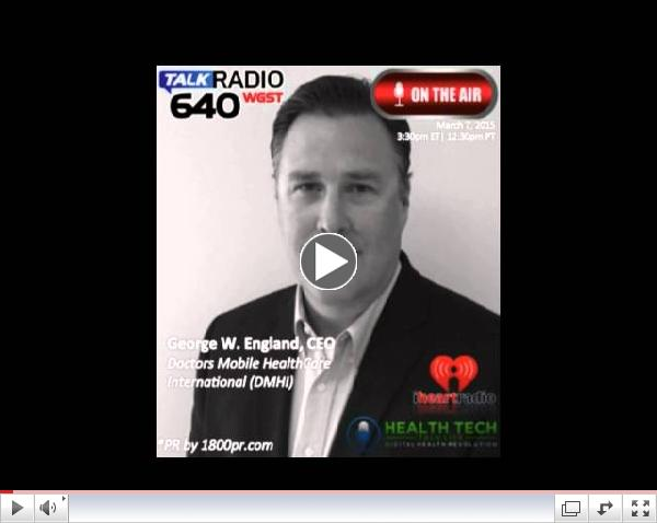 George England CEO of DMHI Interviewed on HealthTech Talk Hosted by Ben Chodor