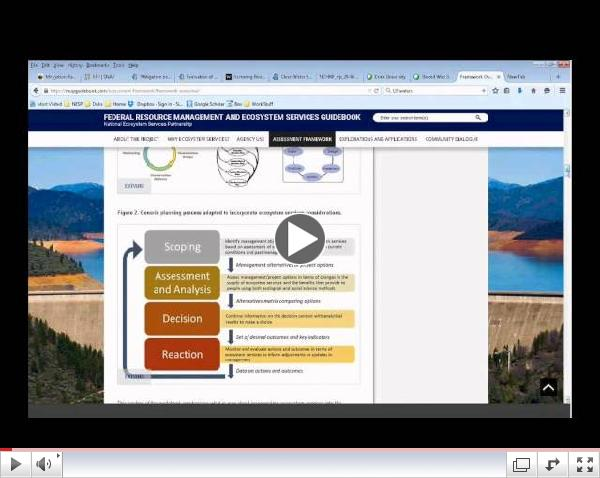 Webinar: Federal Resource Management and Ecosystem Services Guidebook