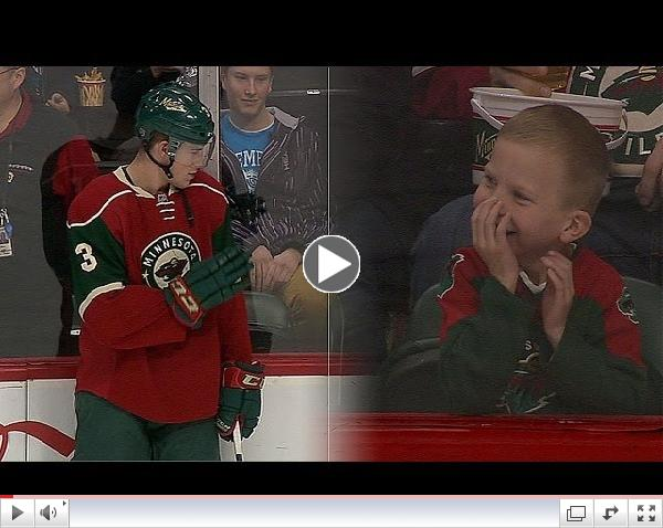 Priceless: Wild's Coyle Makes Young Fans Day