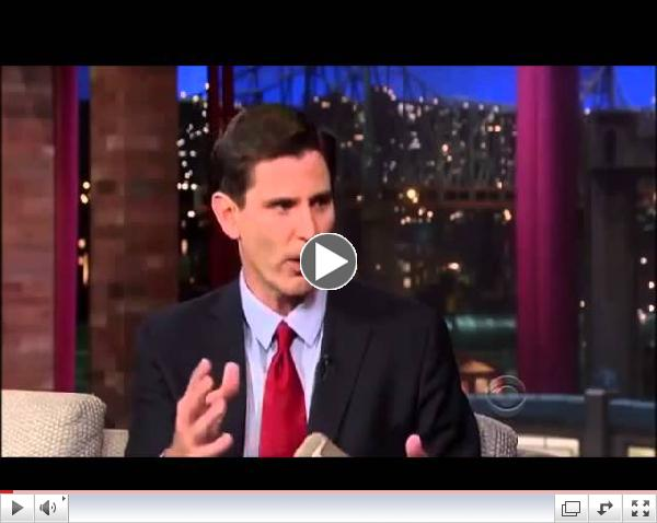 Mark Jacobson interview on David Letterman   October 9, 2013