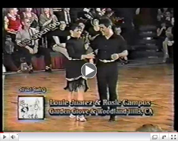 Louie Juarez & Rosie Campos - 2nd Place - 1996 US Open Street Swing Division - WCS