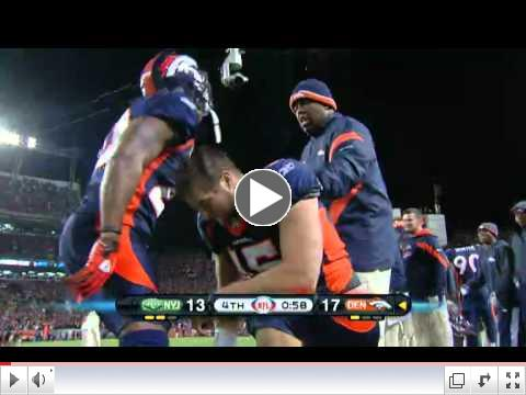 Tim Tebow Game Winning  Touchdown vs. Jets