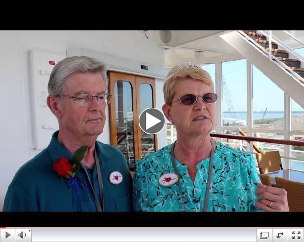 Couple Celebrates 100th Carnival Sensation Cruise