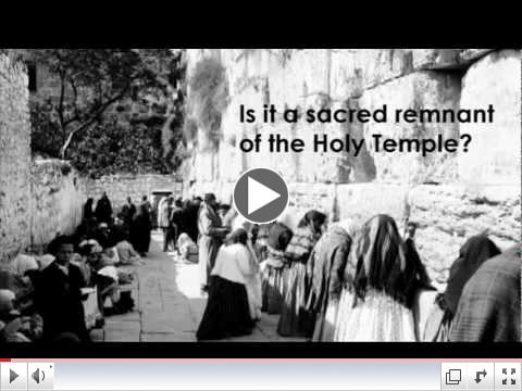 The Kotel - some questions and some key milestones