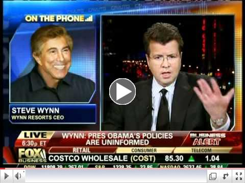 Neil Cavuto interviews Steve Wynn 10-21-11, part 1