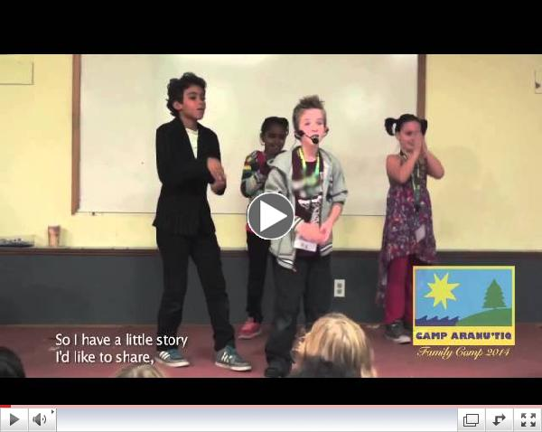 Alex's rap about transgender acceptance - at Camp Aranu'tiq 2014