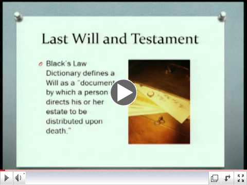 Workshop Video: Estate Planning For The Novice