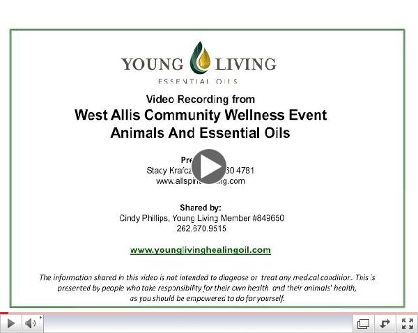 Animals and Young Living Essential Oils April 2014