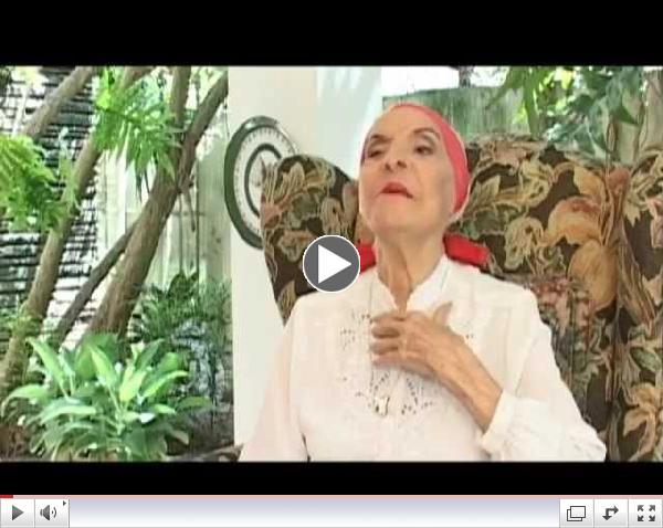 Mensaje de legendaria bailarina Alicia Alonso al pueblo de Estados Unidos (ingl??s)