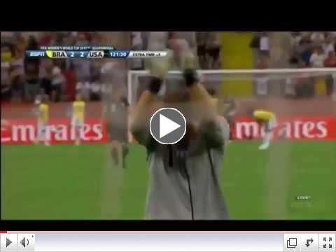 [HD] Abby Wambach Goal Against Brazil | 2011 Women's World Cup