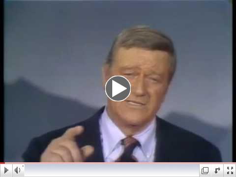 John Wayne`s --- God Bless America