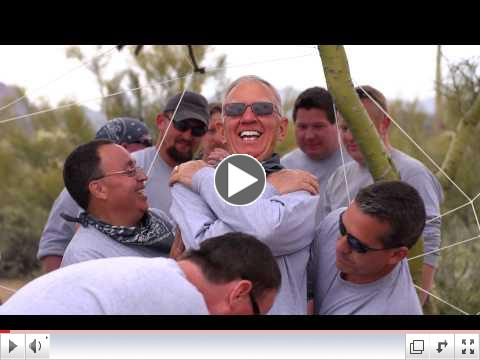 Uhaul celebrated 50th and 75th anniversary at Venture Up's Ropes Course